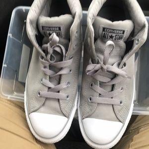 Converse - Grey & White Suede. Mens 7.5, Euro 41
